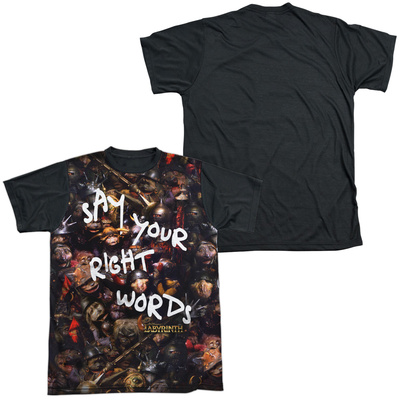 Labyrinth - Right Words Black Back Shirts