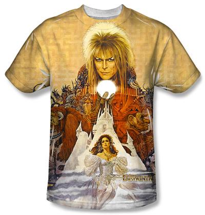 David Bowie Labyrinth Music Soundtrack Film Covert Art T-shirt