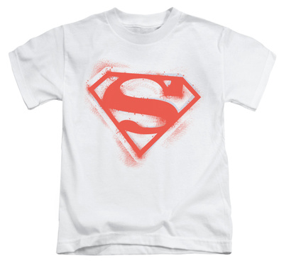 Juvenile: Superman - Spray Paint Shield T-Shirt