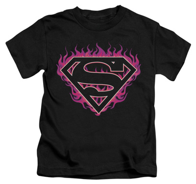 Juvenile: Superman - Fuchsia Flames T-shirts