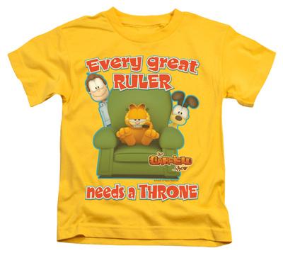Juvenile: Garfield - Throne T-shirts