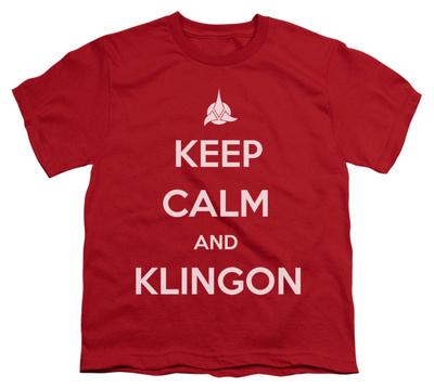 Youth: Star Trek - Calm Klingon T-shirts!