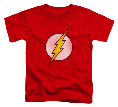 Toddler: The Flash - Flash Logo Distressed Shirts