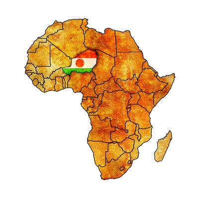 Niger on Actual Map of Africa Kunst af  michal812