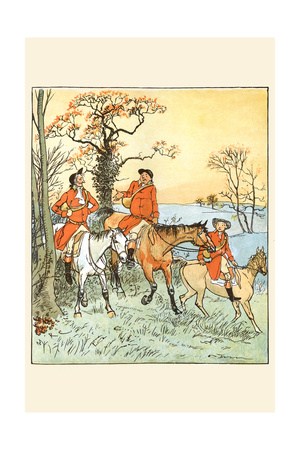 Huntsmen Recounted the Day Prints by Randolph Caldecott