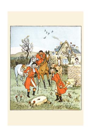Huntsmen Came across a Grindstone Prints by Randolph Caldecott