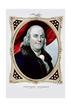 Benjamin Franklin: the Statesman and Philosopher Prints by  Currier & Ives
