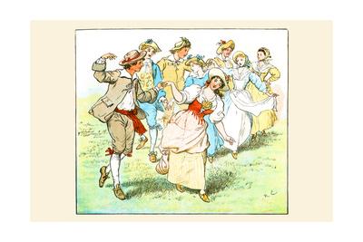 Square Dance Prints by Randolph Caldecott