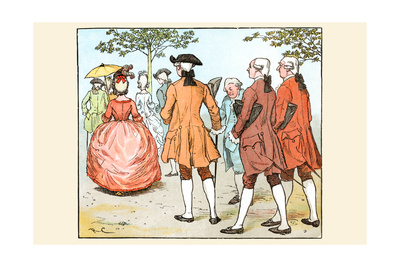 Mrs. Blaize Was Always Followed by Suitors, Even the King Poster by Randolph Caldecott
