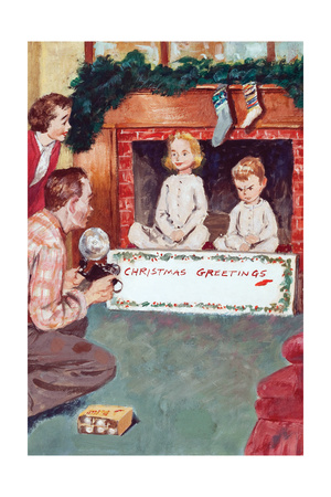 Christmas Greetings Posters by Amos Sewell