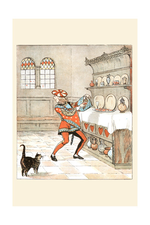 Knave of Hearts He Stole the Tarts from the Cupboard Art by Randolph Caldecott
