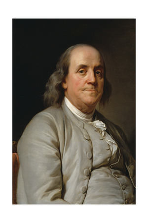 Portrait Benjamin Franklin Prints by Joseph-Siffrede Duplessis