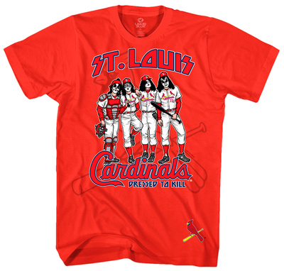 KISS - St. Louis Cardinals Dressed to Kill T-Shirts