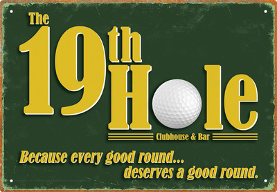 19Th Hole Tin Sign Blikskilt