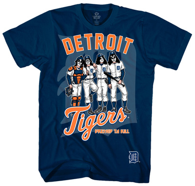 KISS - Detroit Tigers Dressed to Kill Tshirts