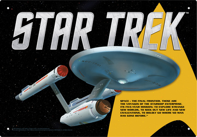 Star Trek - Enterprise Tin Sign Tin Sign