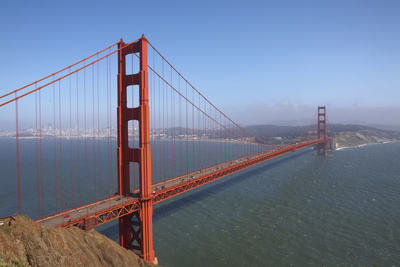 Golden Gate Bridge from Golden Gate Recreation Photographic Print by Jason Todd
