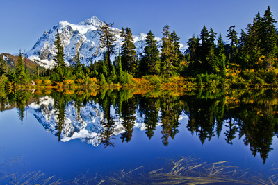 Mt. Shuksan Reflected in Highwood Lake Photographic Print by Michael Riffle