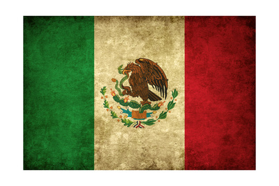 Grunge Flag of Mexico Poster by Graphic Design Resources