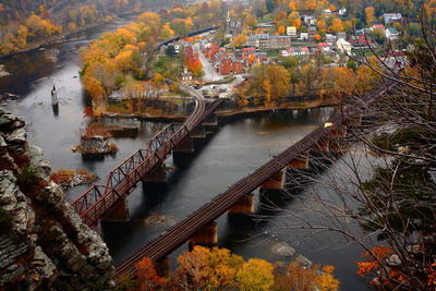 Harpers Ferry in the Fall Photographic Print by Image courtesy of Jeffrey D. Walters