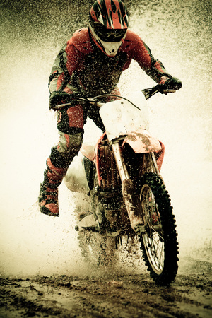 Dirt Bike Rider Photographic Print by Thorpeland Photography