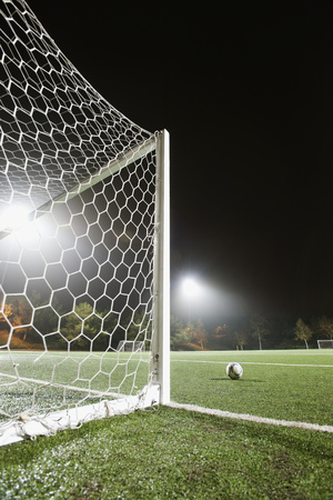 Usa, California, Ladera Ranch, Football in Front of Goal Photographic Print by Erik Isakson