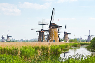Eight from the Nineteen Windmills in Kinderdijk Photographic Print by  Colette2