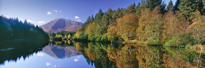Early Autumn at Glencoe Lochan, Scotland Photographic Print by Kathy Collins