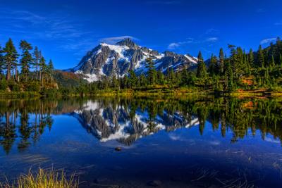 Shuksan Mirror Perfection Photographic Print by Photo by David R irons Jr