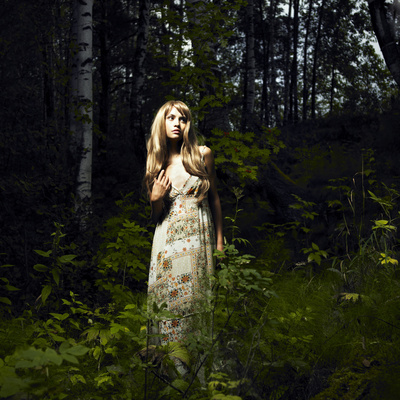Girl in Fairy Forest Photographic Print by George Mayer