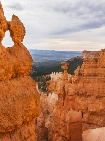 Usa, Utah, Bryce Canyon, Landscape with Cliffs Photographic Print by Daniel Grill