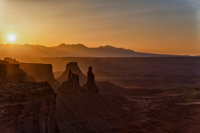 Textures of a Canyonlands Sunrise Photographic Print by Hansrico Photography