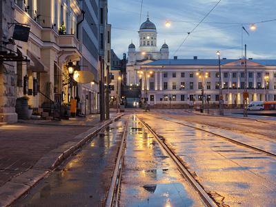 Helsinki after Rain Photographic Print by Any Photo 4U