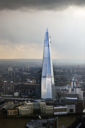 The Shard in a Rainstorm Photographic Print by Howard Kingsnorth