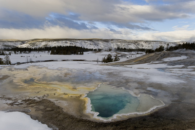 Geothermal Hot Spring, Yellowstone NP Photographic Print by Ben Cranke