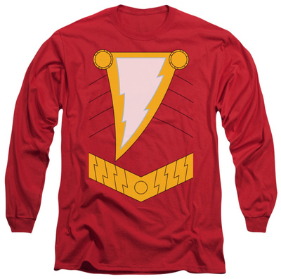 Long Sleeve: Justice League - Shazam Costume Tee T-shirts