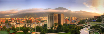 Caracas. Amanece En La Ciudad Con El M Photographic Print by Jose Manuel Azcona