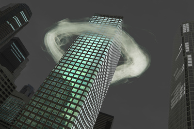 Ring of Vapor around Building Photographic Print by Paul Taylor