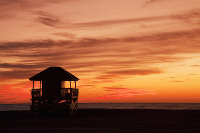Lifeguard Post Photographic Print by Buena Vista Images