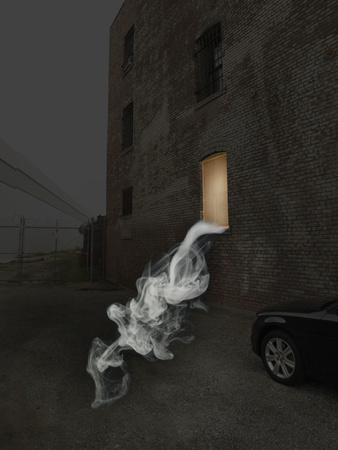 Smoke Coming from Window Photographic Print by Paul Taylor