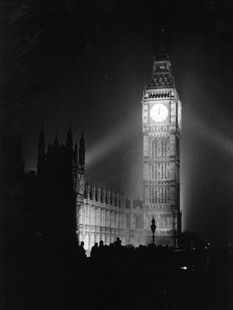 Big Ben Illuminated Photographic Print by Picture Post