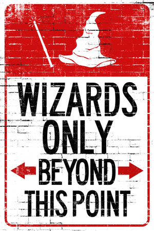 Wizards Only Beyond This Point Prints