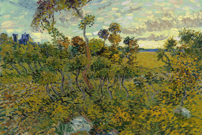 Sunset at Montmajour Posters by Vincent van Gogh
