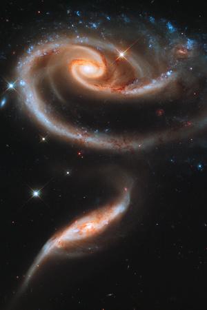Rose Galaxy Hubble Space Photo Kunstdrucke