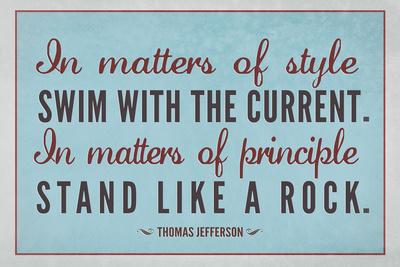 Stand Like A Rock Thomas Jefferson Quote Print
