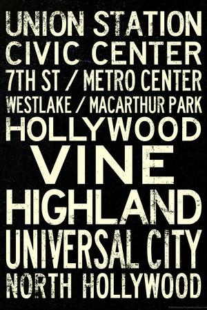 Los Angeles Metro Rail Stations Vintage Subway Retro Metro Travel Posters