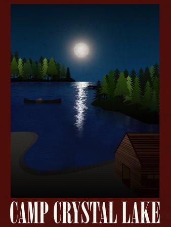 Camp Crystal Lake Retro Travel Prints