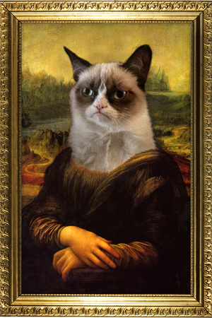 Grumpy Cat Mona Lisa Prints