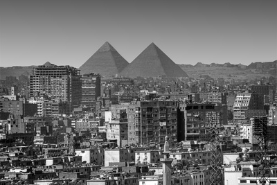 Cityscape of Cairo, Pyramids, Egypt Photographic Print by Anik Messier