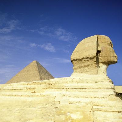 Great Pyramid of Giza and the Sphinx, Egypt Photographic Print by Hisham Ibrahim